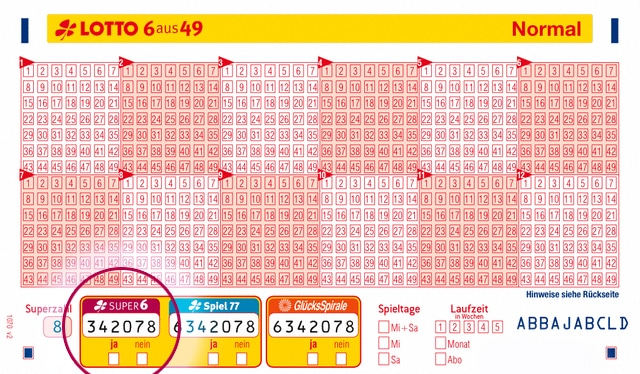 lotto super 6 quoten